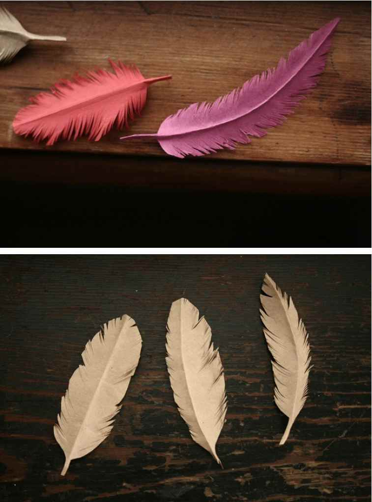 Paper feather beauty shot