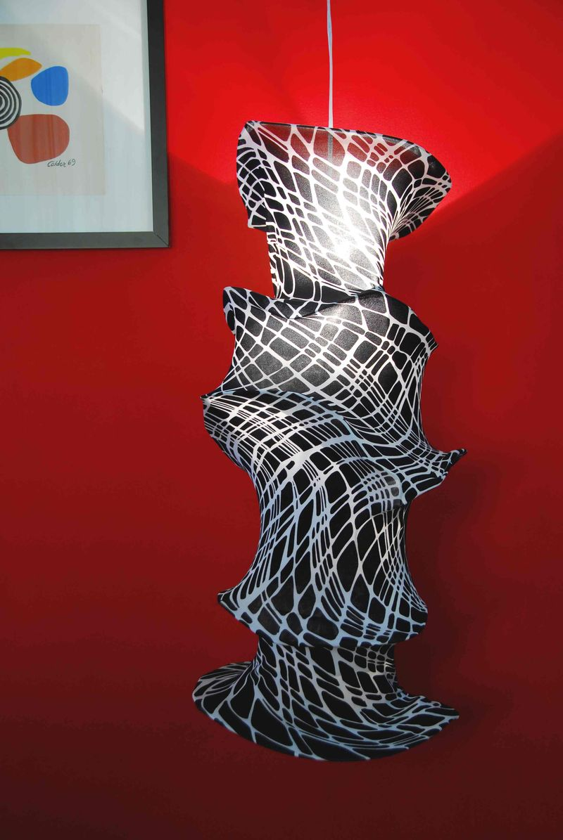 Beauty 1 Black and White Lycra Lamp Sculpture
